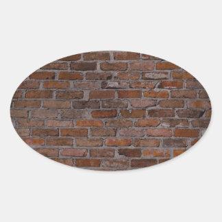 Brick Wall Oval Sticker