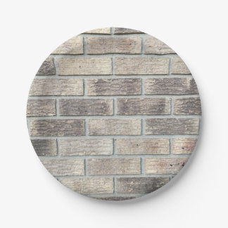 Brick Wall Paper Plate