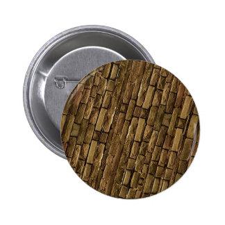 Brick Wall Pattern Pinback Button
