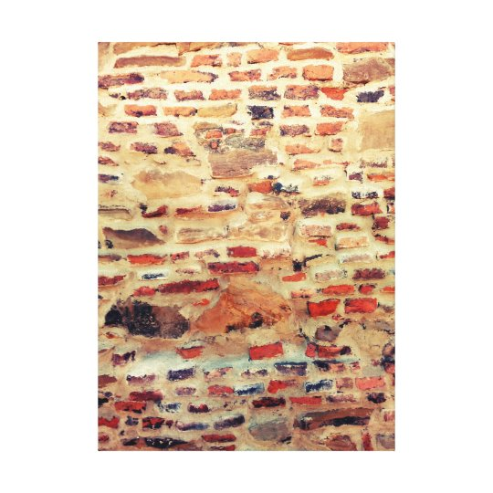 Brick Wall Pattern Canvas Print