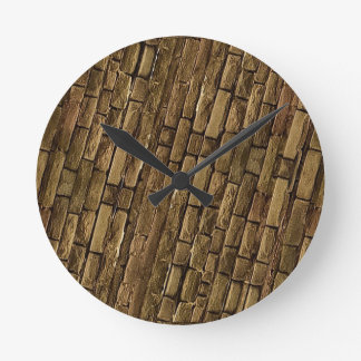 Brick Wall Pattern Clock