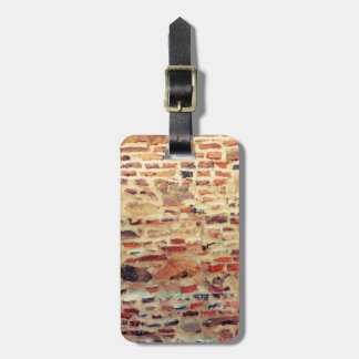 Brick Wall Pattern Luggage Tag