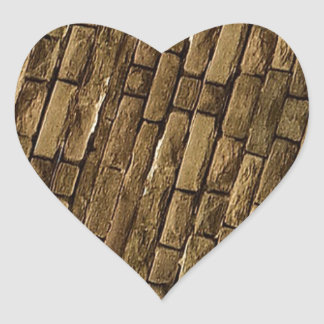 Brick Wall Pattern Heart Sticker