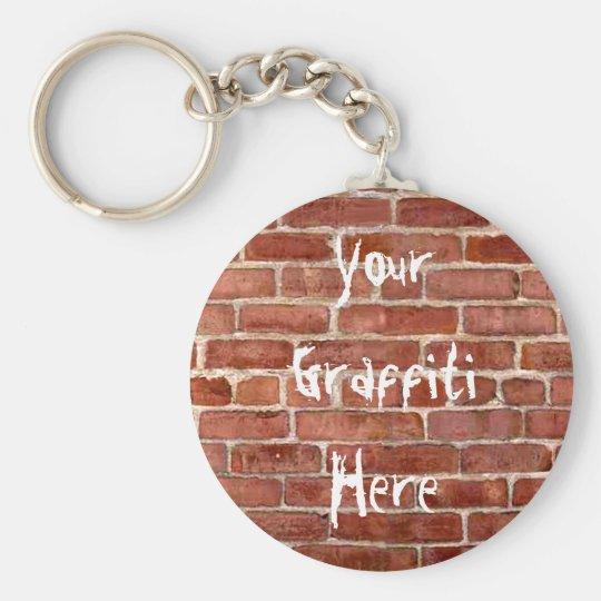 Brick Wall Personalised Graffiti Key Chain