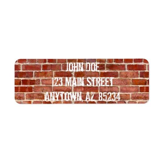 Brick Wall Personalised Graffiti Re Address Labels