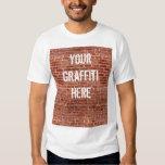 Brick Wall Personalised Graffiti T-Shirt