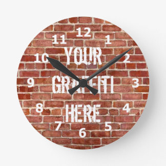 Brick Wall Personalized Graffiti Clock