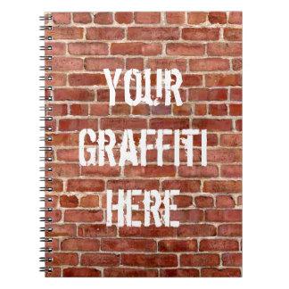 Brick Wall Personalized Graffiti Notebooks