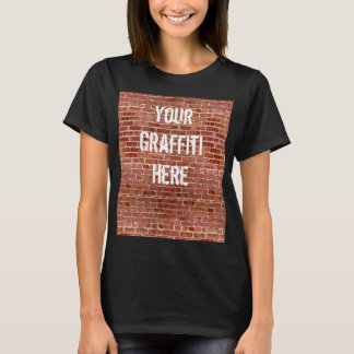 Brick Wall Personalized Graffiti Shirt