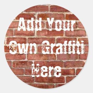 Brick Wall Personalized Graffiti Stickers