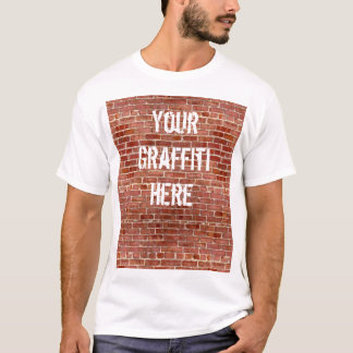 Brick Wall Personalized Graffiti T-Shirt