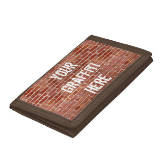 Brick Wall Personalized Graffiti Wallet