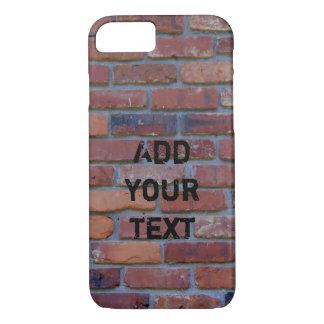 Brick wall - red mixed bricks and mortar iPhone 8/7 case