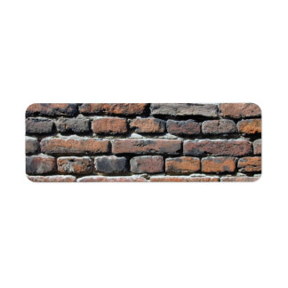 Brick Wall Return Address Label