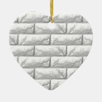 Brick Wall Seamless Texture Background Christmas Ornament