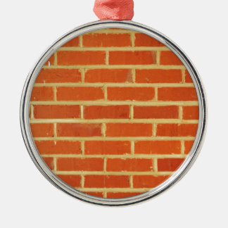 Brick wall Silver-Colored round decoration