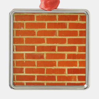 Brick wall Silver-Colored square decoration