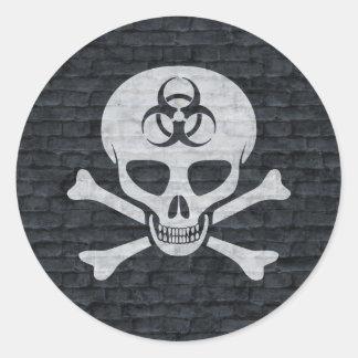 Brick Wall Skull and Crossbones Sticker