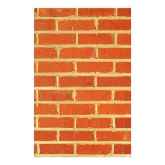 Brick wall stationery design