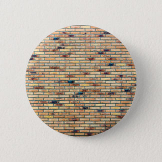 Brick wall with several colors 6 cm round badge