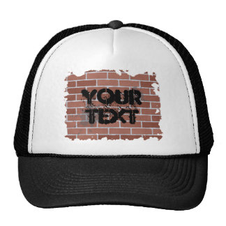 brick wall, YOUR TEXT Hats