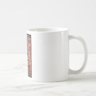 Brick Work Basic White Mug