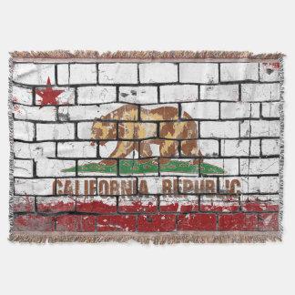 Bricked California Flag Throw Blanket