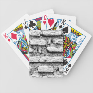 Bricked wall bicycle playing cards