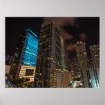 Brickell Ave Miami Florida Evening in the City Print