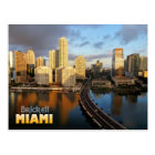 Brickell Skyline in Miami, Florida Postcard