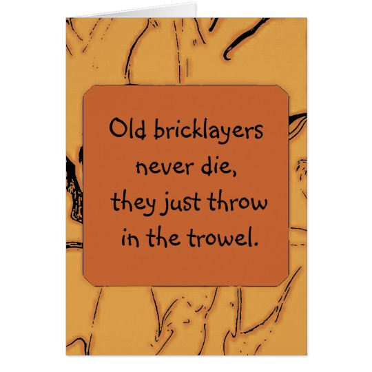 bricklayers humour card