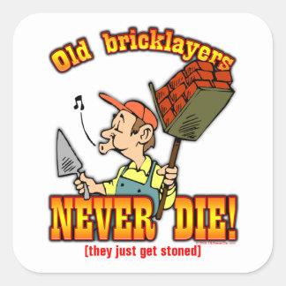 Bricklayers Square Sticker