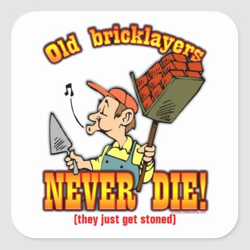Bricklayers Square Stickers