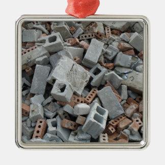 Bricks & Blocks Demolition Rubble Debris Christmas Ornament