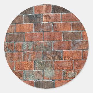 bricks round sticker