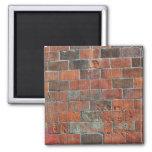 bricks square magnet