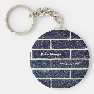 Bricks wall key ring