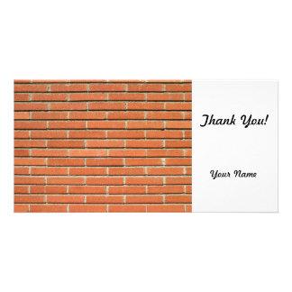Bricks Wall Personalised Photo Card