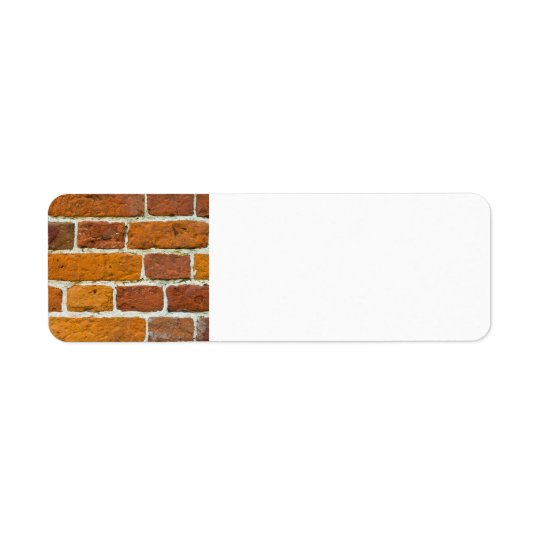 Brickwall Return Address Label