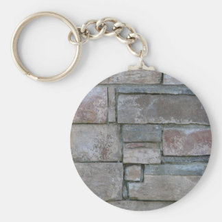 Brickwork for Mason or Brick Layer Basic Round Button Key Ring