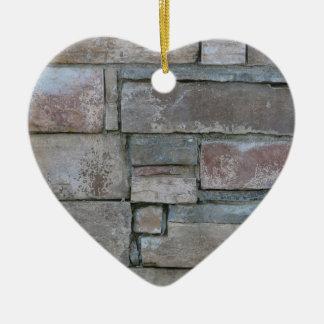 Brickwork for Mason or Brick Layer Ceramic Heart Decoration