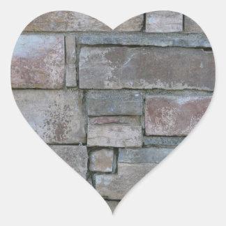 Brickwork for Mason or Brick Layer Heart Sticker