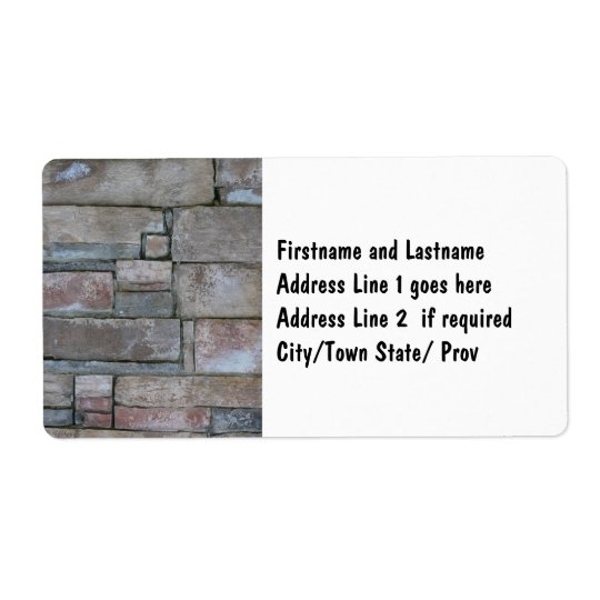Brickwork for Mason or Brick Layer Shipping Label