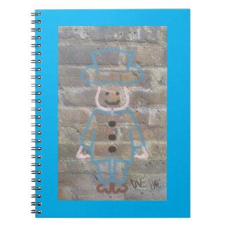 Brickwork graffiti book spiral note book