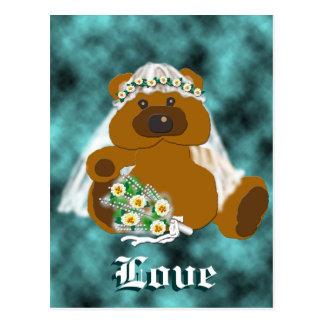Bridal Bear Collection Postcard