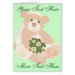 Bridal Bear Greeting Card