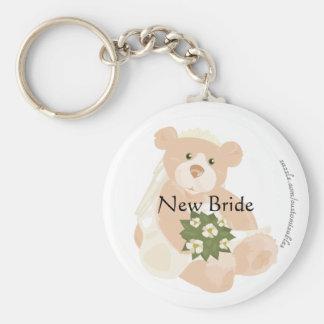 Bridal Bear Keychain