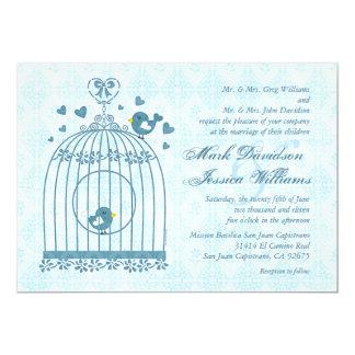 Bridal Bird Cage Wedding Invitation