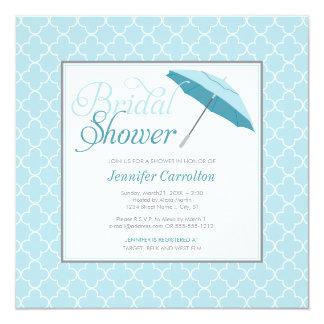 Bridal Blue Umbrella Shower Invitation
