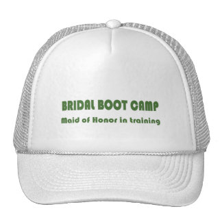 BRIDAL BOOT CAMP Maid of Honor in Training Cap Mesh Hats